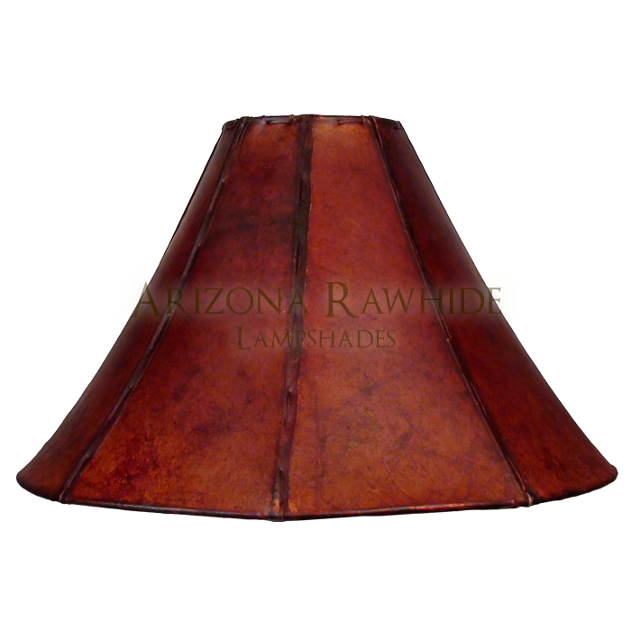 Floor Lamp Rawhide Shade - Arizona Rawhide, leather lampshades for ...
