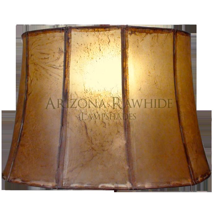 Large Barrel Table Lamp Rawhide Shade Arizona Rawhide