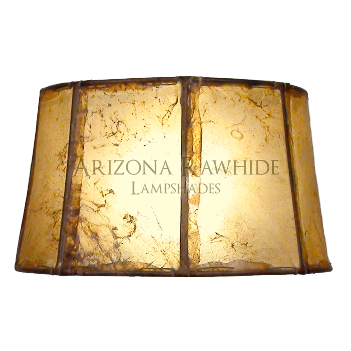 Barrel Table Lamp Rawhide Shade Arizona Leather Lampshades For Less