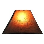 RECT - Rectangle Rawhide Amber Shade  Top:8
