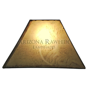 "RECT - Rectangle Rawhide Natural Shade  Top:8""x5"", Bottom:20""x12"", Hight:12"""