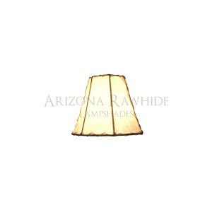 "Chandelier-SM Rawhide Off-White Shade  4""H x 5""W (2.5""W Top)"